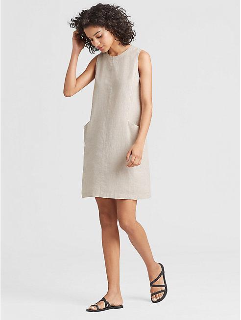 Hemp Organic Cotton Stripe Chambray Dress