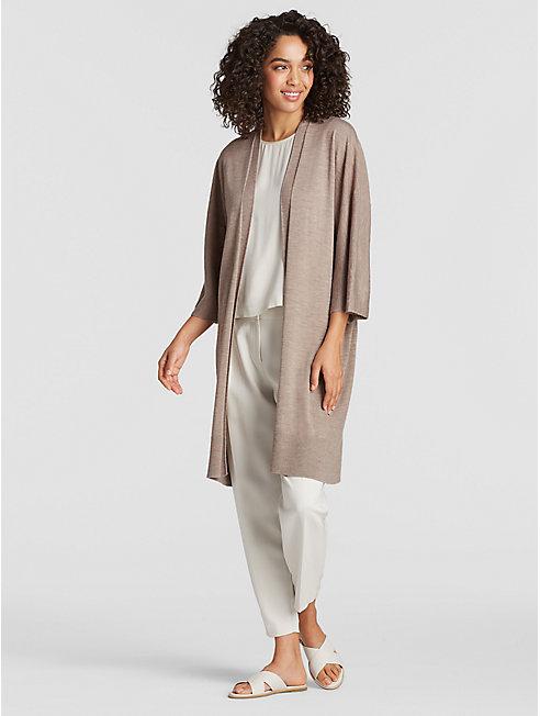 Exclusive Merino Silk Cashmere Kimono Cardigan