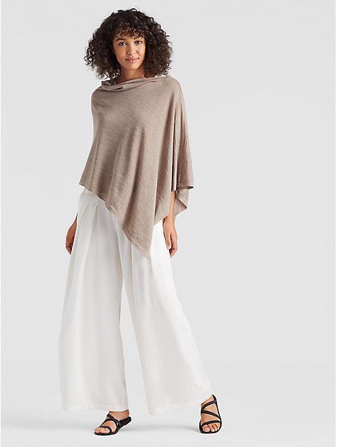 Exclusive Merino Silk Cashmere Poncho