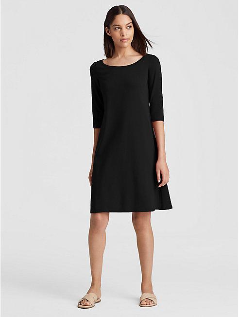 Organic Cotton Jersey Ballet Neck Dress