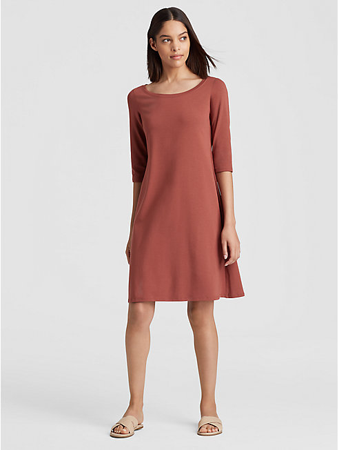 Organic Cotton Jersey Ballet Neck Dress