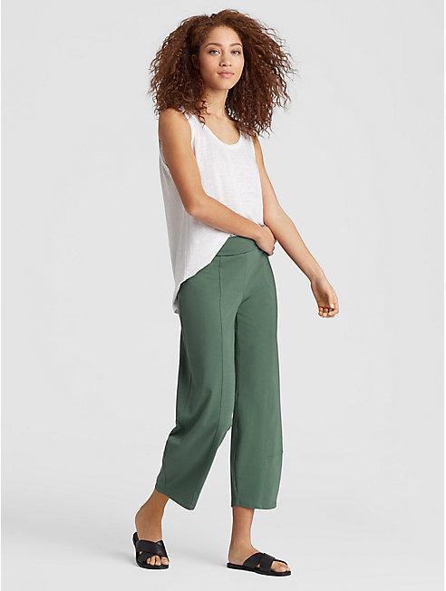 Organic Cotton Jersey Lantern Ankle Pant
