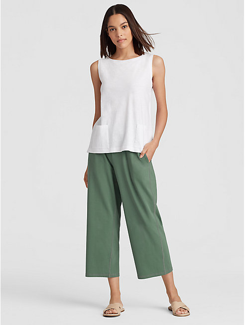 Organic Cotton Jersey Slouchy Cropped Pant