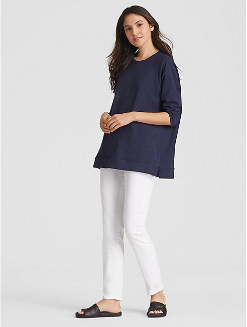 Organic Cotton Jersey Side-Zip Top