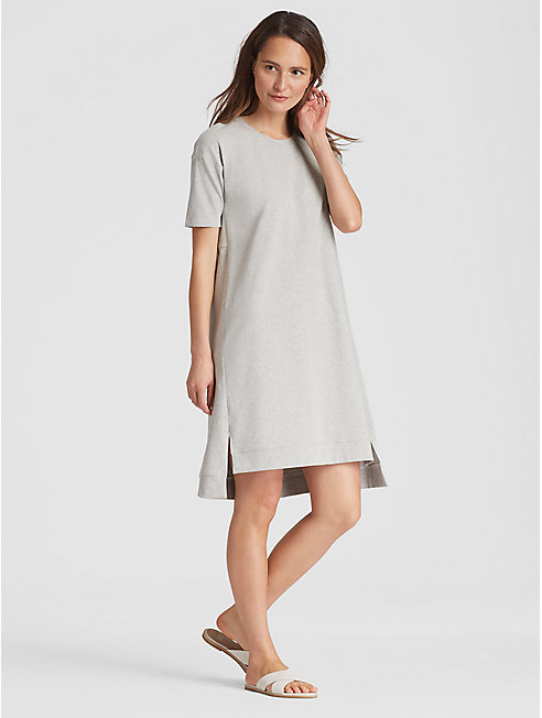 Heathered Organic Cotton Jersey A-Line Dress
