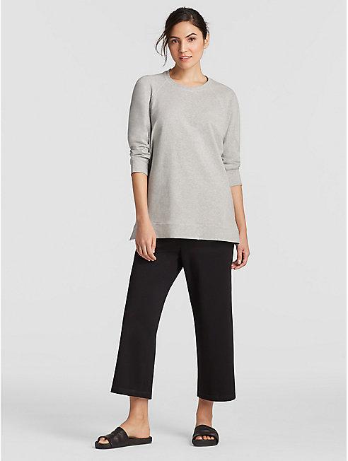 Heathered Organic Cotton Jersey Side-Zip Top