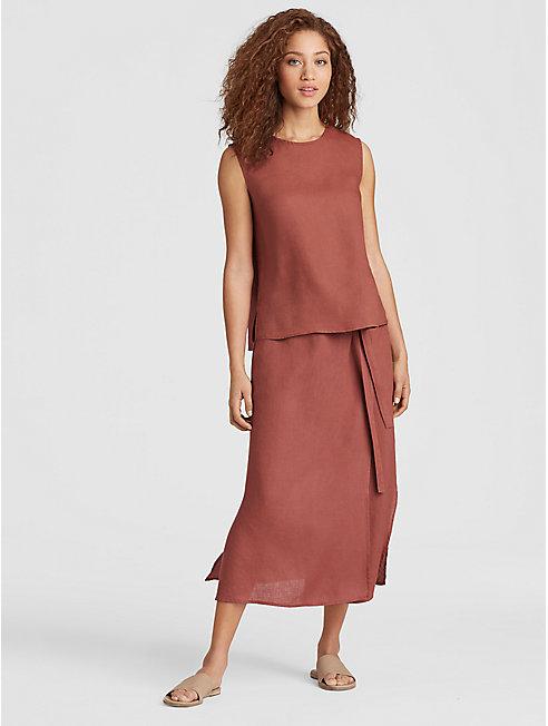 Organic Handkerchief Linen Wrap Skirt
