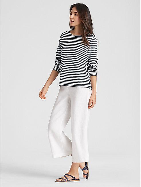 Organic Linen Cotton Stripe Top