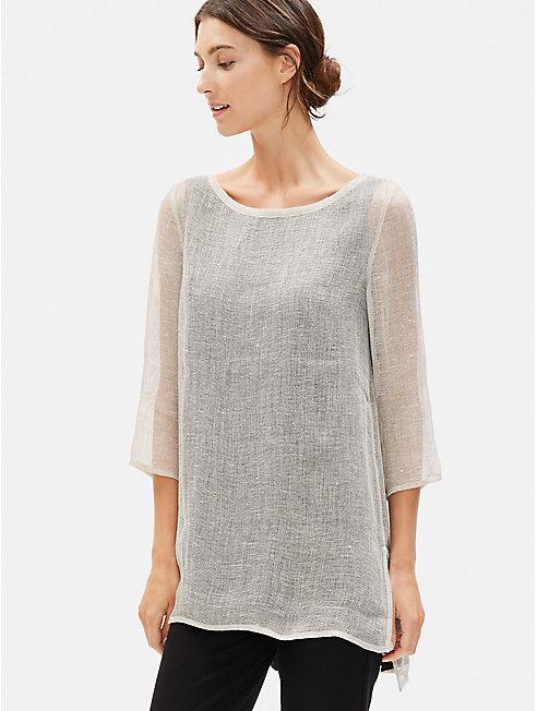 Organic Linen Mesh A-Line Tunic