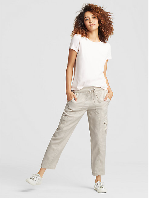 Organic Linen Cargo Pant