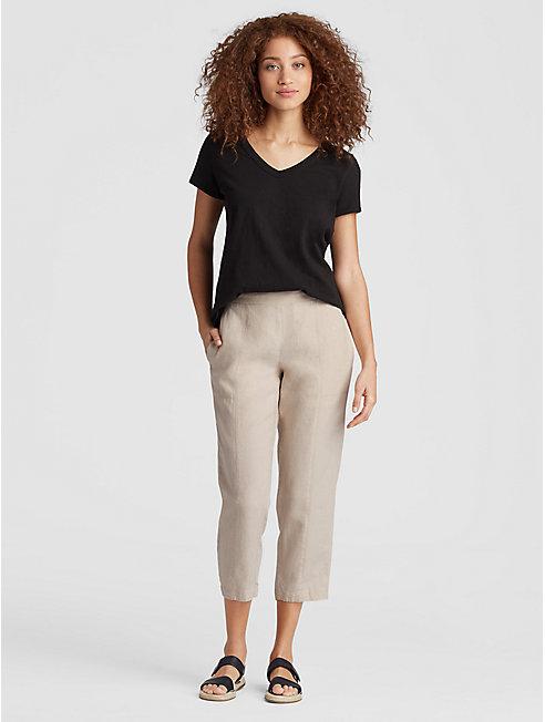 Organic Linen Cropped Pant