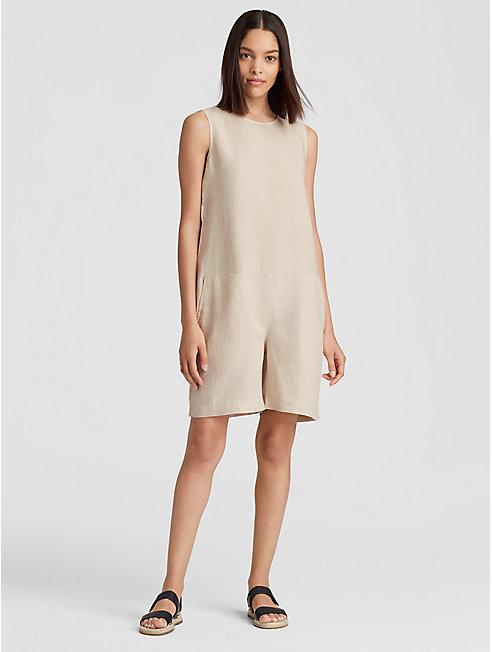 Organic Linen Short Jumpsuit