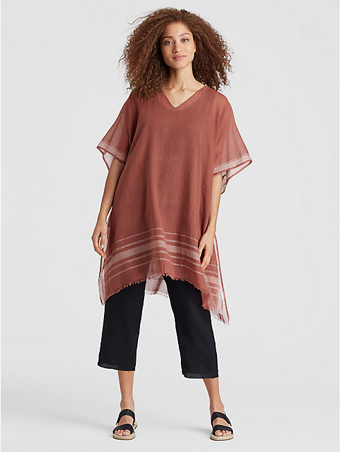 Exclusive Handwoven Organic Cotton Poncho