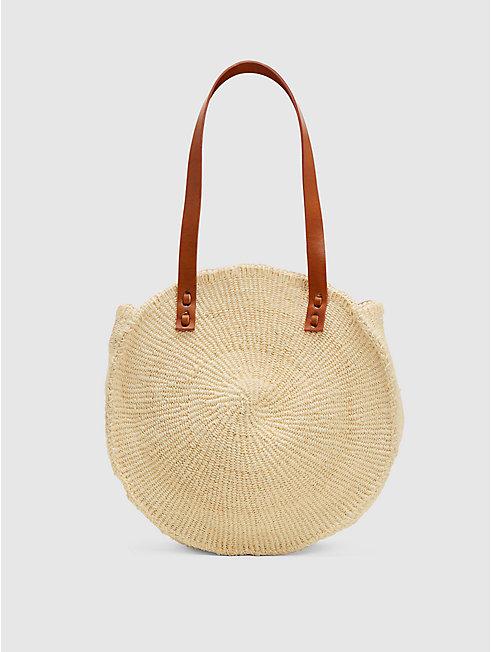 Bamboula Woven Sisal Round Bag