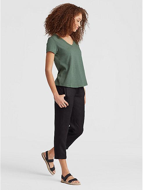 Organic Cotton Jersey Slub Shirttail Tee