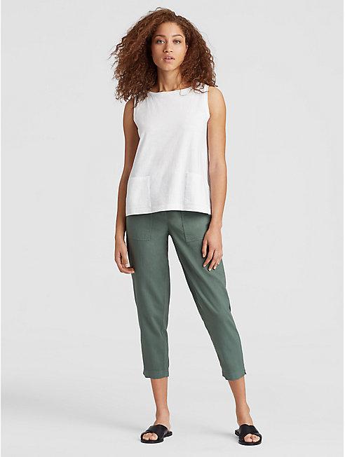 Organic Cotton Jersey Slub Pocket Shell