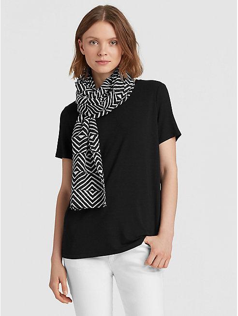 Optical Organic Cotton Silk Scarf