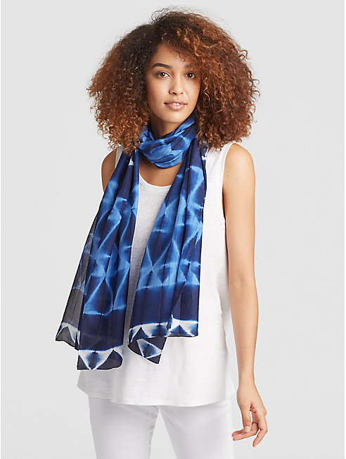 Exclusive Shibori Silk Prism Scarf