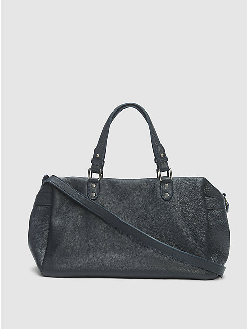 Textured Italian Leather Duffel Bag