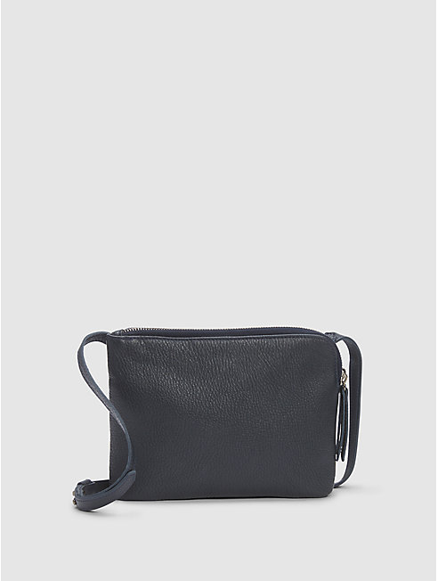 Textured Italian Leather Shoulder Bag