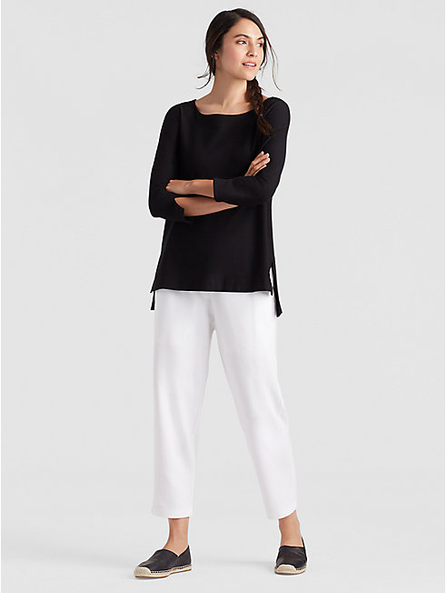 Tencel Ponte Cropped Trouser