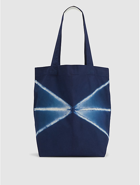 Exclusive Organic Cotton Shibori Tote Bag