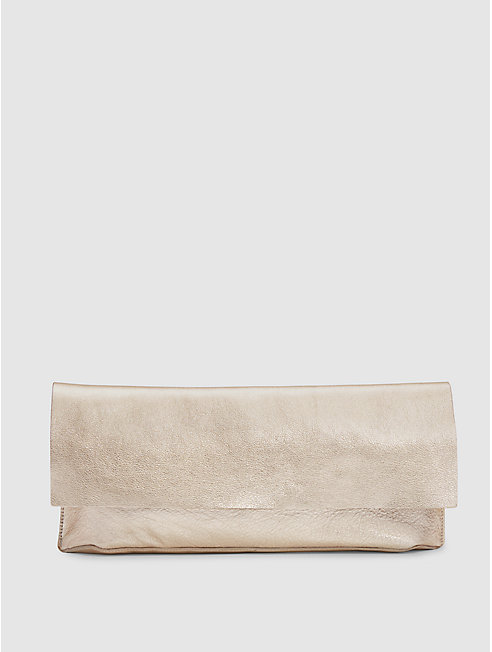 Italian Leather Soft Clutch