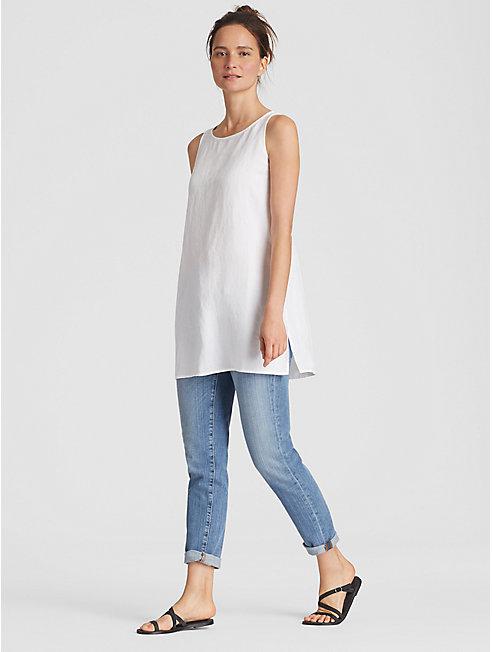 Organic Linen Tencel Crepe Tunic