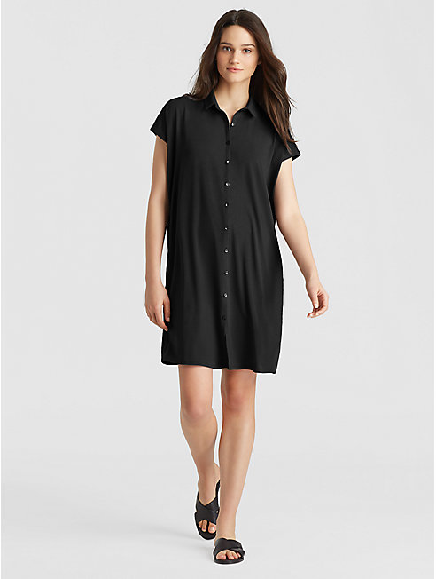 Viscose Jersey Shirt Dress