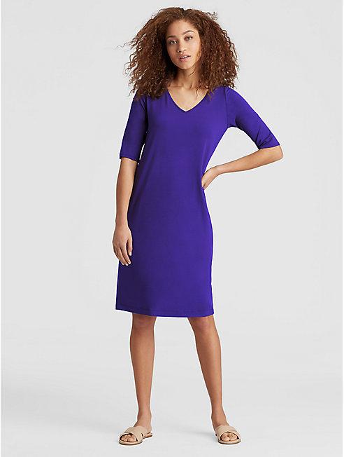 Viscose Jersey Shift Dress