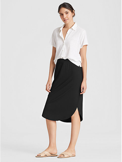 Viscose Jersey Shirttail Skirt