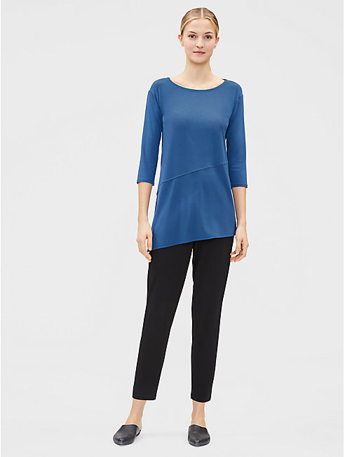 Viscose Jersey Ballet Neck Top