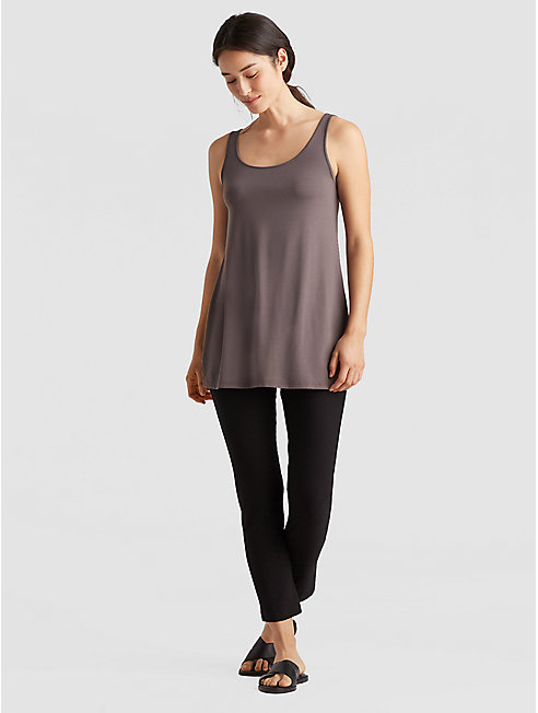 Lightweight Viscose Jersey Long Tank