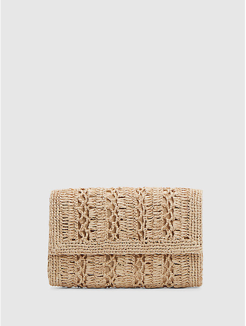 Mar Y Sol Crocheted Raffia Anabel Clutch