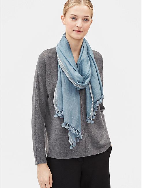 Handwoven Silk Zari Stripe Scarf