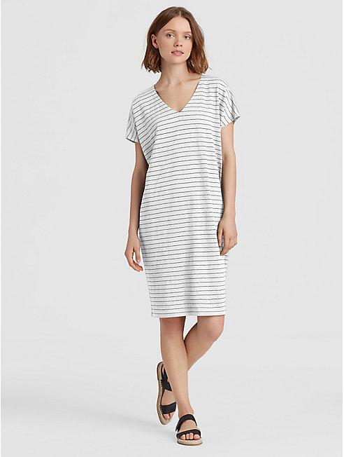 Organic Linen Stripe Easy Dress