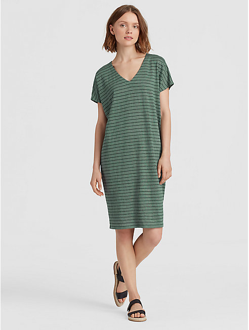 Organic Linen Stripe Easy Dress