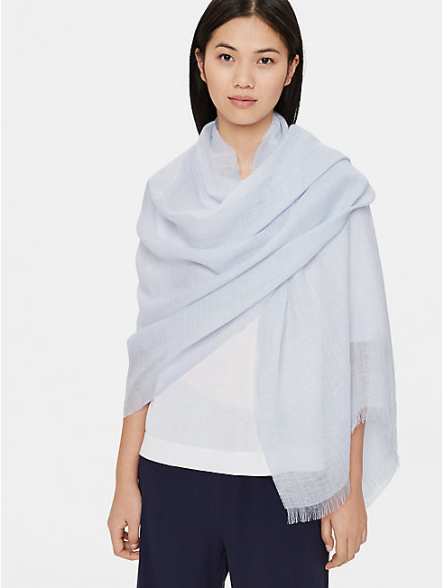 Cross-Dyed Organic Linen Wrap