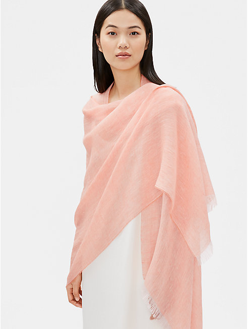 Cross-Dyed Organic Linen Wrap