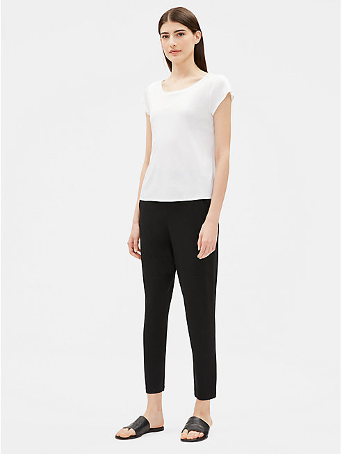 Tencel Interlock Scoop Neck Tee