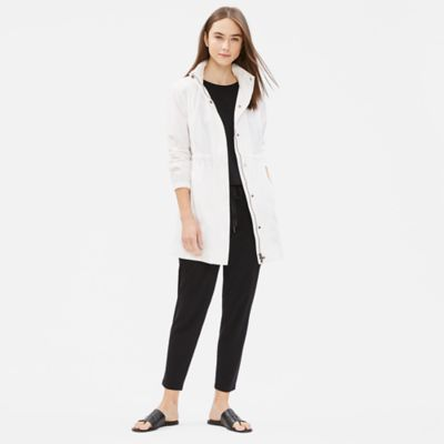 Light Organic Cotton Nylon Hooded Jacket