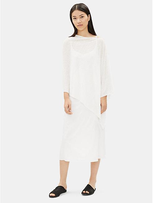 Fine Organic Linen Poncho