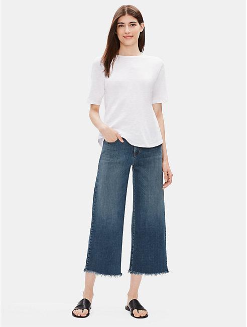 Organic Cotton Stretch Wide-Leg Jean