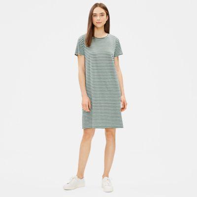 Organic Linen Jersey Striped Dress