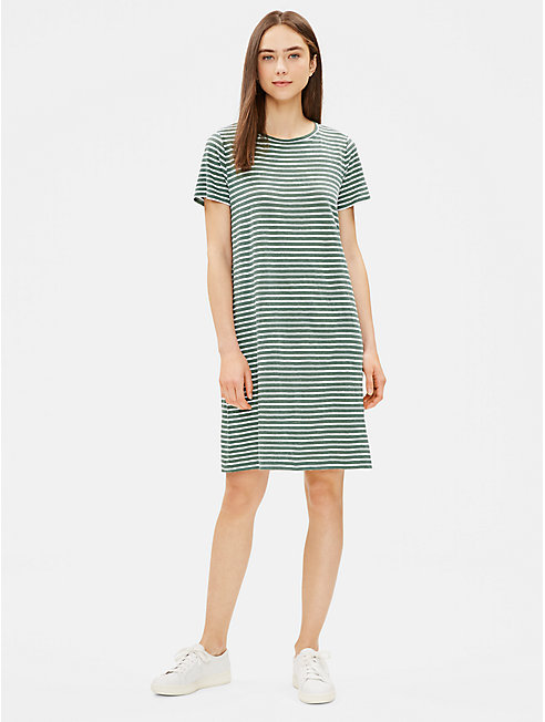 Organic Linen Jersey Striped Dress