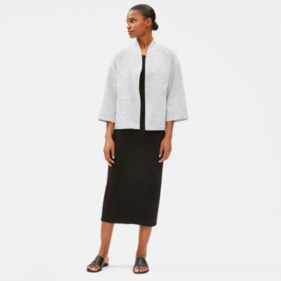 Organic Linen Cotton Ticking Stripe Jacket