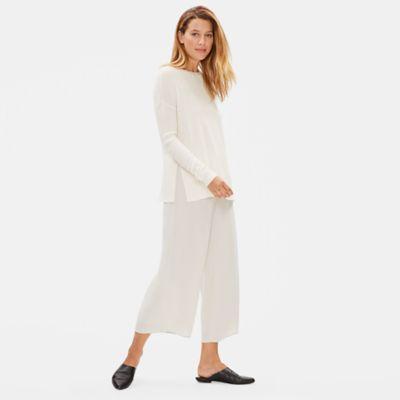 Silk Cashmere Round Neck Top