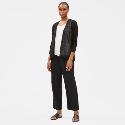 Fine Organic Linen V-Neck Cardigan