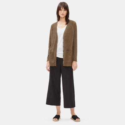 Organic Linen Cotton Long Cardigan