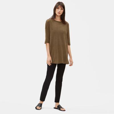 Organic Linen Cotton Jewel Neck Tunic